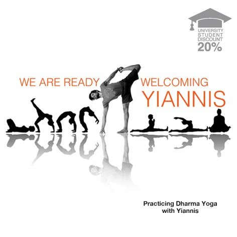 """Practicing Dharma Yoga""  with Yiannis!"