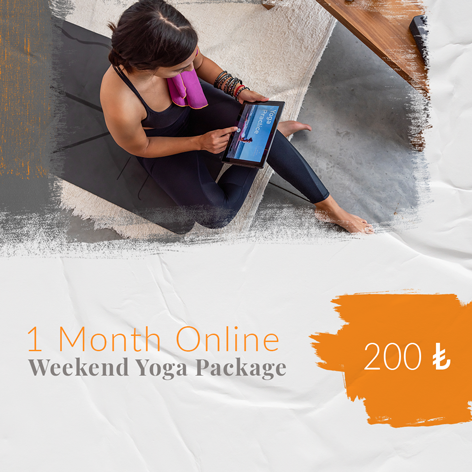 1 Month Online Weekend Yoga Package