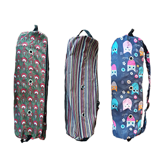 Patterned Yoga Mat Bag<br> (Double Compartment)